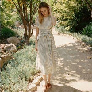 Dôen Striped Maxi Dress Size XS